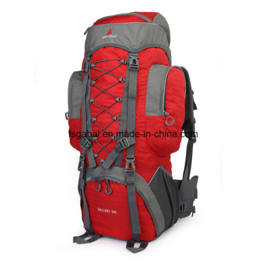 60L Outdoor Waterproof Crossbody Hiking Gear Travel Sports Camping Backpack