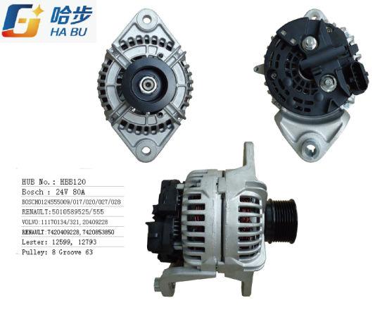 Car Alternator for Volvo 24V 80A 0124555009, 0-124-555-017