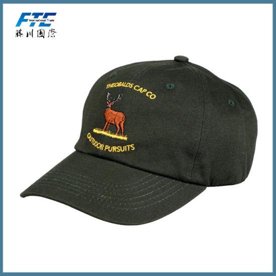 Custom Made Logo Cotton Wholesale Dad 6 Panel Baseball Cap and Hat