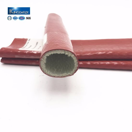Fiberglass and Silicone Hose Fire Sleeve for High Temperature Hose