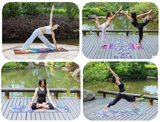 Premium Yoga Mats, Printed Design Exercise Mat with Carrying Strap pictures & photos