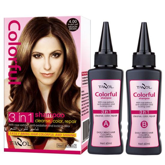 Hot-Sale 100% Cover Grey Hair Color Shampoo - China Hair ...