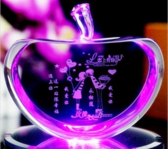 Fashion Lovely Colour Wedding Favor Gifts Crystal Apple