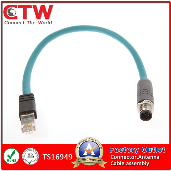 china m12 to rj45 cable assembly china wire harness wiring harness rh changzhouctw en made in china com wiring harness 12 circuit wiring harness makers