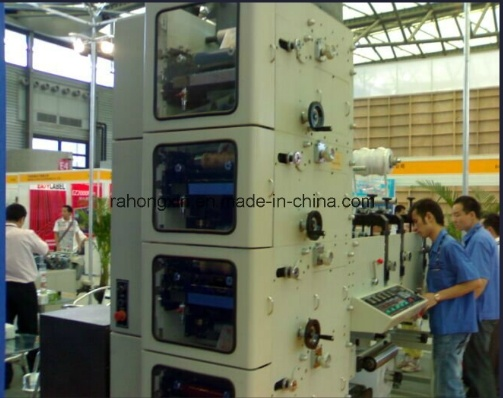 Self-Adhesive Paper Sticker Flexographic Printing Machine 7color pictures & photos