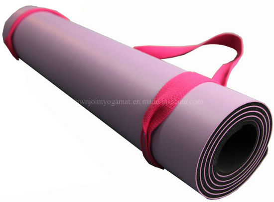 Natural Rubber Wih PU Leather Yoga Mat pictures & photos