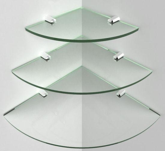 Tempered Glass Corner Shelves For Metal In Other Hardware Display Shelf
