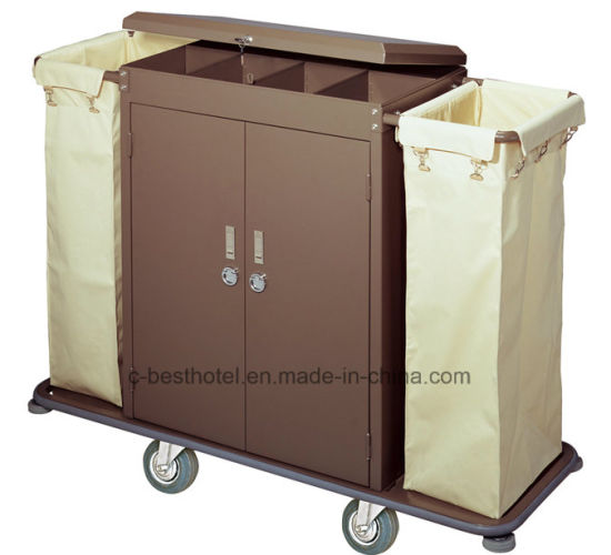 Hotel Room Housekeeping Carts Linen Trolley Service Cart