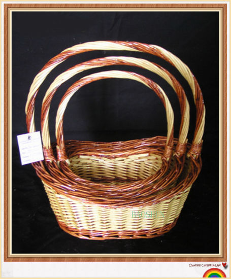 Willow Gift Flower Storage Wicker Food Fruit Storage Basket pictures & photos