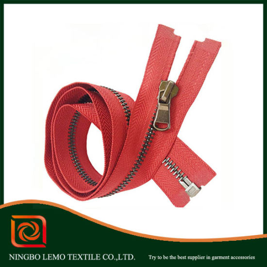 Fashion Metal Zipper by Zipper Manufacture for Garments