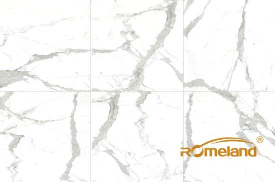 Vitrifiedceramic Calacatta Marble Floor Tiles From China China