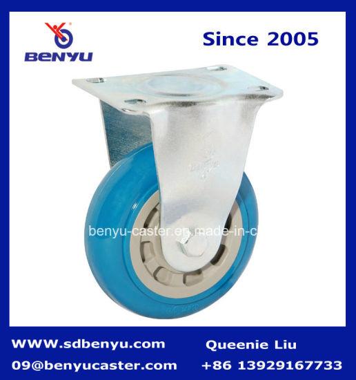 Blue Rigid Wheel Roller for Dining Cart