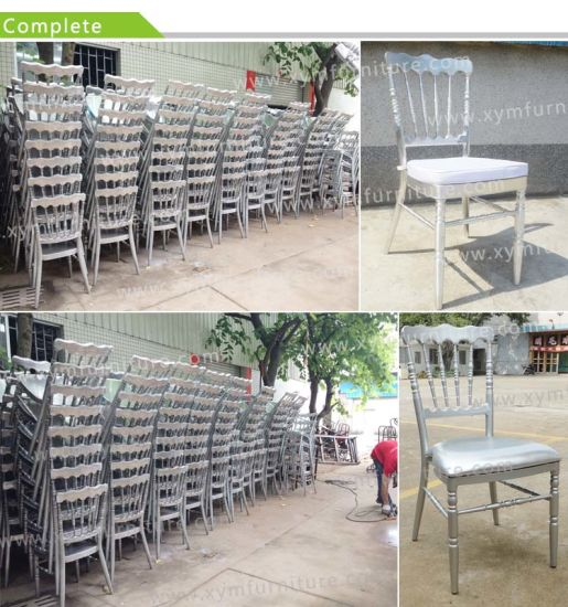 Wholesale Banquet Wedding Metal White Napoleon Chair pictures & photos