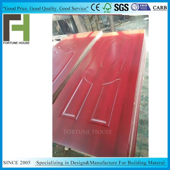 Competitive Moulded Melamine Door Skin Price pictures & photos