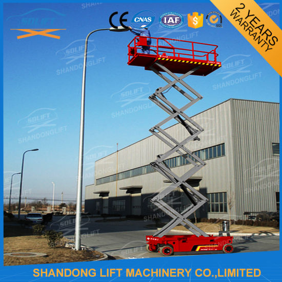 6m Lift Height Electric Mobile Scissor Lift Small Platform Lift pictures & photos
