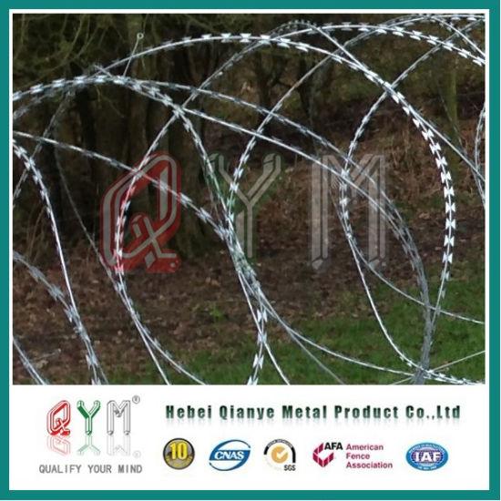 China Stainless Steel Concertina Razor Wire/ Military Razor Wire ...