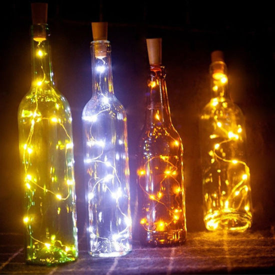 Lights & Lighting Cork Shaped Wine Bottle Stopper String Lights 2 Meters 20 Leds Silver Copper Wire Diy Christmas Halloween Wedding Party Crafts