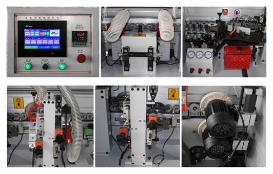 Woodworking PVC Edge Banding Machine with Pre-Milling and Slotting pictures & photos