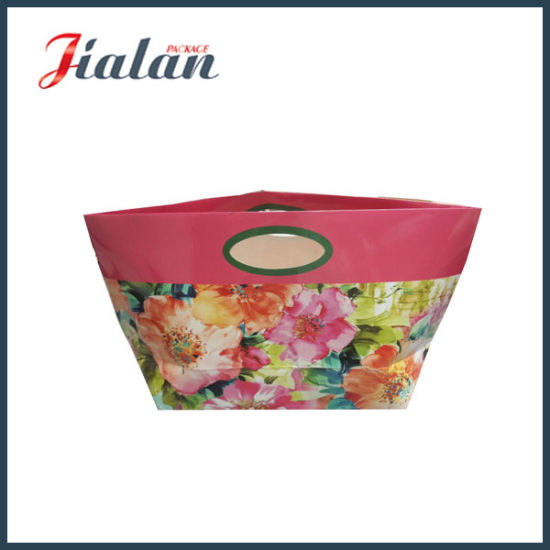 Glossy Lamiation Logo Printed Special Design Unique Shape Paper Bag pictures & photos