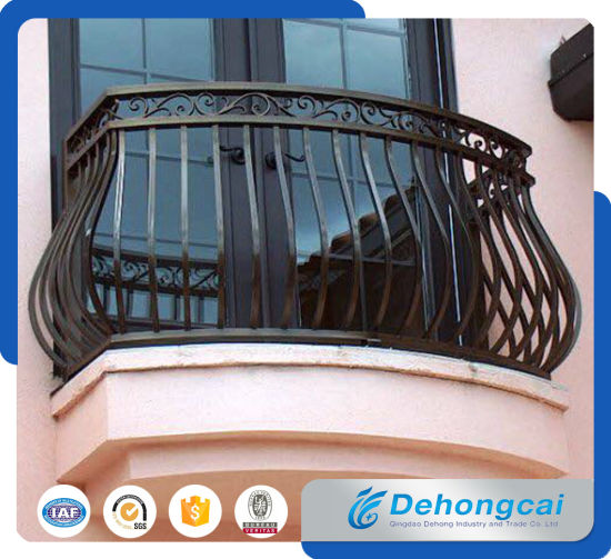 EU Standard Residential Galvanized Steel / Wrought Iron Balcony Safety Fence pictures & photos