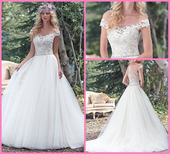 6d8521142ee0d Tulle Bridal Ball Gowns Beads Lace off Shoulder Plus Size Wedding Dress  S201782 pictures & photos