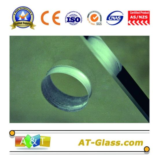 dabc3d877887 5mm-19mm Toughened Glass/ Tempered Glass/ Armored Glass/ Reinforced Glass/  Stalinite with Hole, Polished Edge