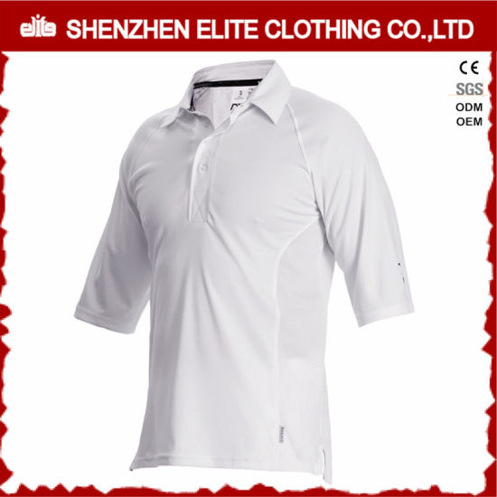 Quick Dry Custom White Cricket Shirt Designs pictures & photos