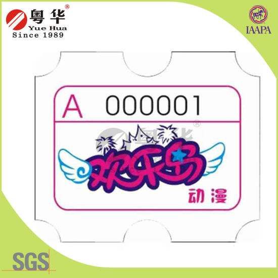 Indoor Game Accessories Redemption Ticket From Yuehua pictures & photos