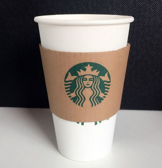 Paper Sleeve for Hot Drinking Cup Starbuck Coffee