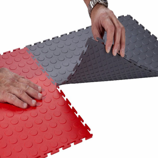China Workshop Interlocking Floor Tiles Clear Pvc Sheet