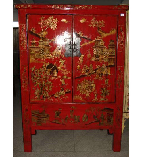 Antique Painted Chinese Wooden Wedding Cabinet Lwa337 pictures & photos - Antique Painted Chinese Wooden Wedding Cabinet Lwa337 - China