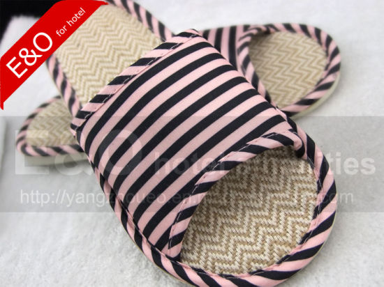 Flax & TPR Sole Indoor Room Hotel Slippers