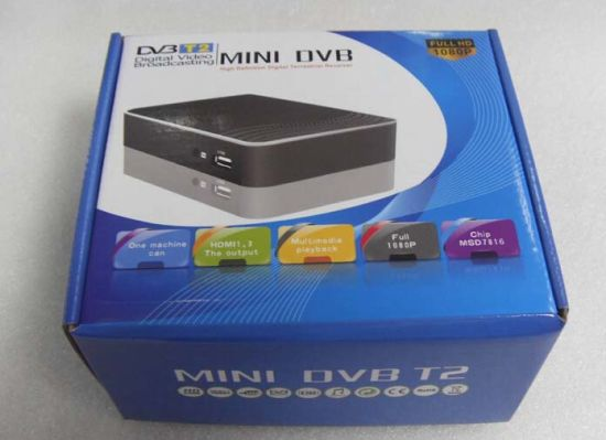 Mini HD DVB-T2 STB MPEG4 Digital Terrestrial Receiver pictures & photos