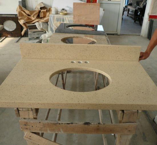 engineered quartz countertops. White/Black/Beige Engineered Quartz Countertop For Bathrorom/Kitchen /Vanity Top Countertops