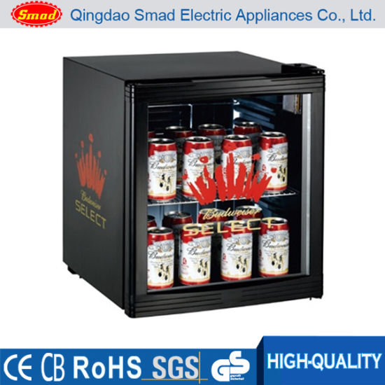 China 50 Litre Mini Fridge Glass Door Display Fridge Beverage Fridge