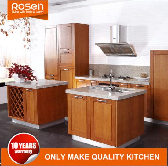 Free Design China Rta Wood Grain Veneer Kitchen Cabinets Furniture
