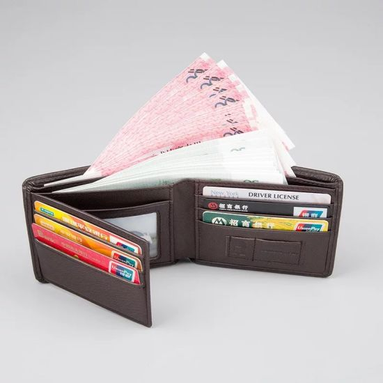 China mens wallet short business card bi fold wallet layer cowhide mens wallet short business card bi fold wallet layer cowhide leather wallet reheart Images