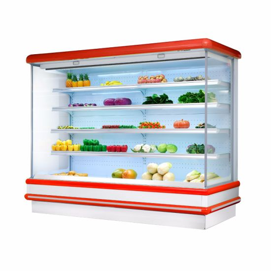 Open Face Air Curtain Display Cooler Refrigerator Showcase pictures & photos