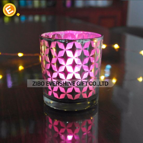 Hot Sale Glass Candle Holders and Jars with Lifting Handle pictures & photos