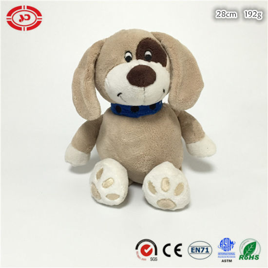 Soft Sitting Dog Animal Plush Cute Pet Stuffed En71 Toy