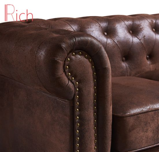 Peachy China Living Room Brown Chesterfield Sofa Couch With Leather Machost Co Dining Chair Design Ideas Machostcouk