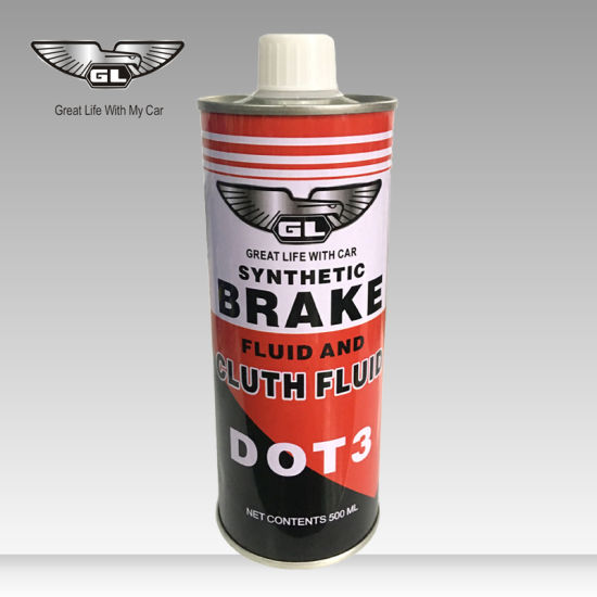 250ml White Brake Fluid Liquid DOT 3 Oil in Metal Iron Can pictures & photos