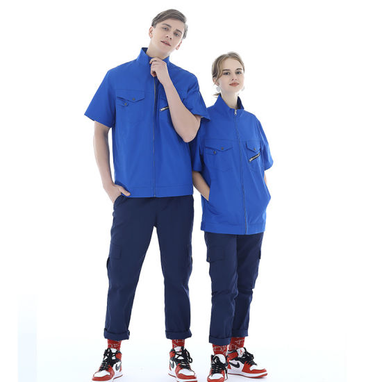2019 Summer Work Clothing Short Sleeve Workwear Clothes for Factory OEM Working Suits