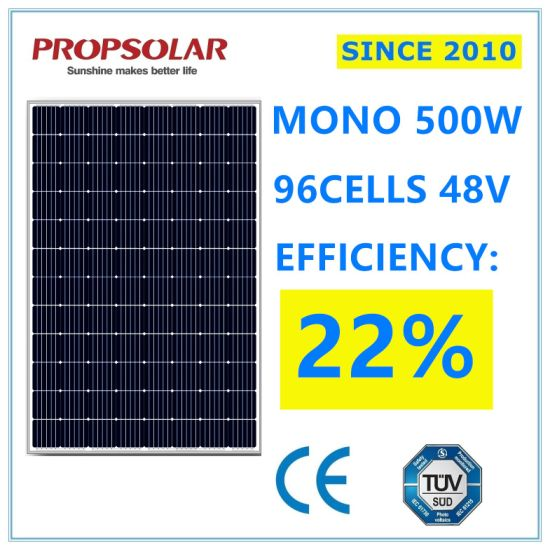 Trustworthy A Grade Perc Photovoltaic Monocrystalline 500W PV Solar Cell Energy Power Panel Modules for Sale with Best Price