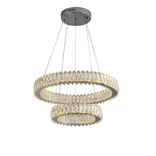 Hanging Lamp with K9 Crystal Chandelier for Home Decoration