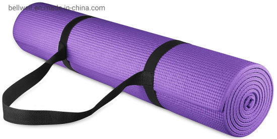 Gaiam Essentials Thick Yoga Mat Fitness Exercise Mat With Easy Cinch Yoga Mat Carrier Strap 72 L X 24 W X 2 5 Inch Thick