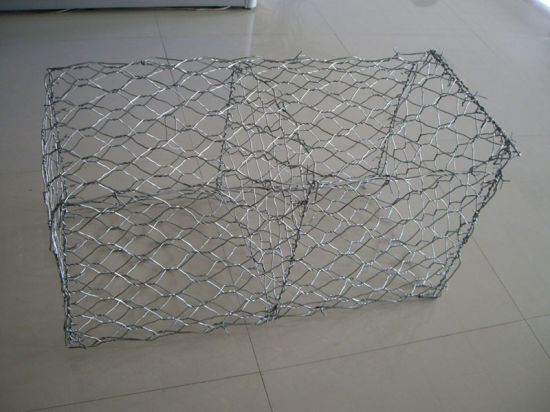 Galvanized Iron Wire Hexagonal Mesh Gabion Box Baskets Cages Raod Engineering pictures & photos