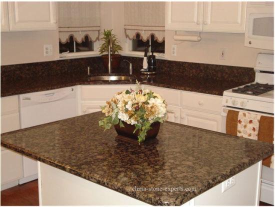 Prefab Baltic Bwown Quartz/Granite/Marble/Slate/Granite Stone Countertop for Kitchen/Bathroom/Cabinet/Island/Hotel
