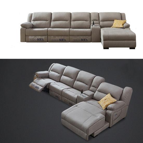 Astounding Theater Movie Italian Genuine Heated Leather Sofa Modern Sectional Sofa Hb112 Bralicious Painted Fabric Chair Ideas Braliciousco