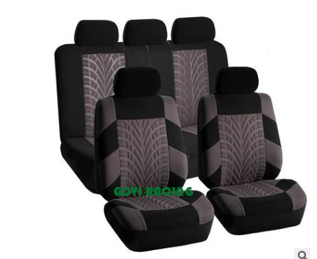 Polyester Universal Car Seat Covers Leather Cushion 9PCS/Set